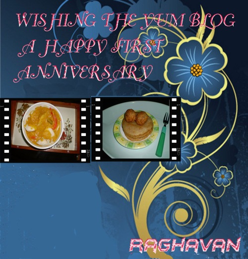 Happy 1st anniversary to the yum blog